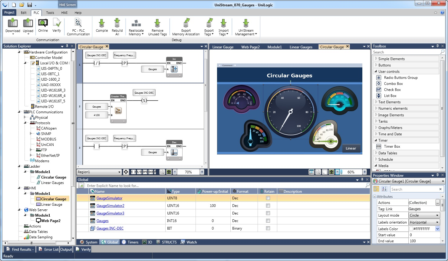 Unilogic HMI Programming screenshot