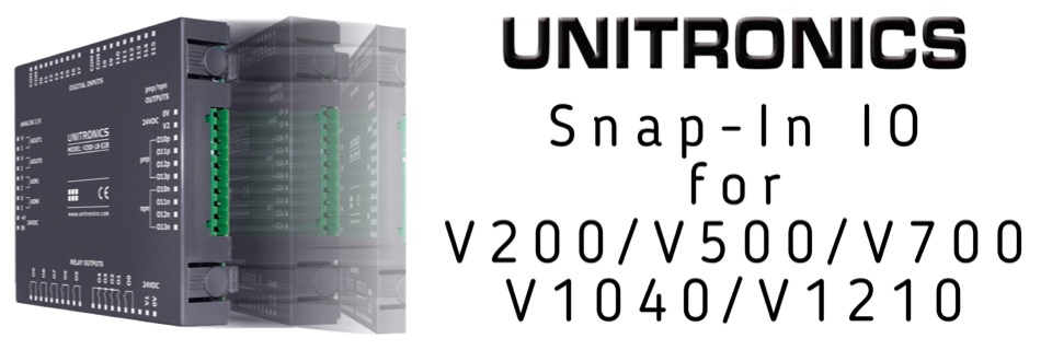 Snap in IO for V200 / V500 / V700 / V1040 / V1210 PLCs